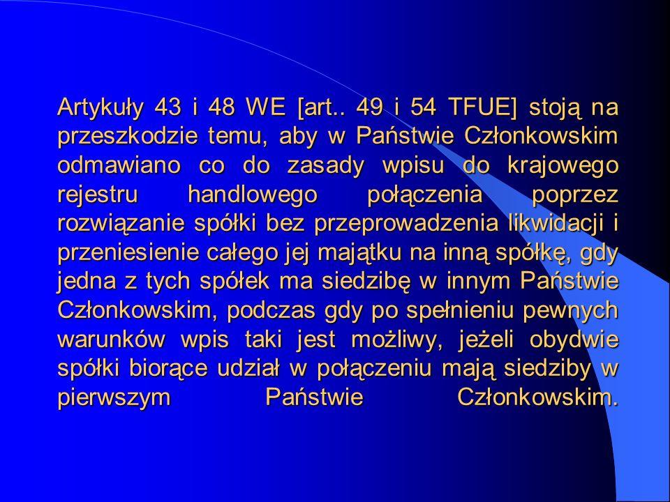 Artykuły 43 i 48 WE [art..